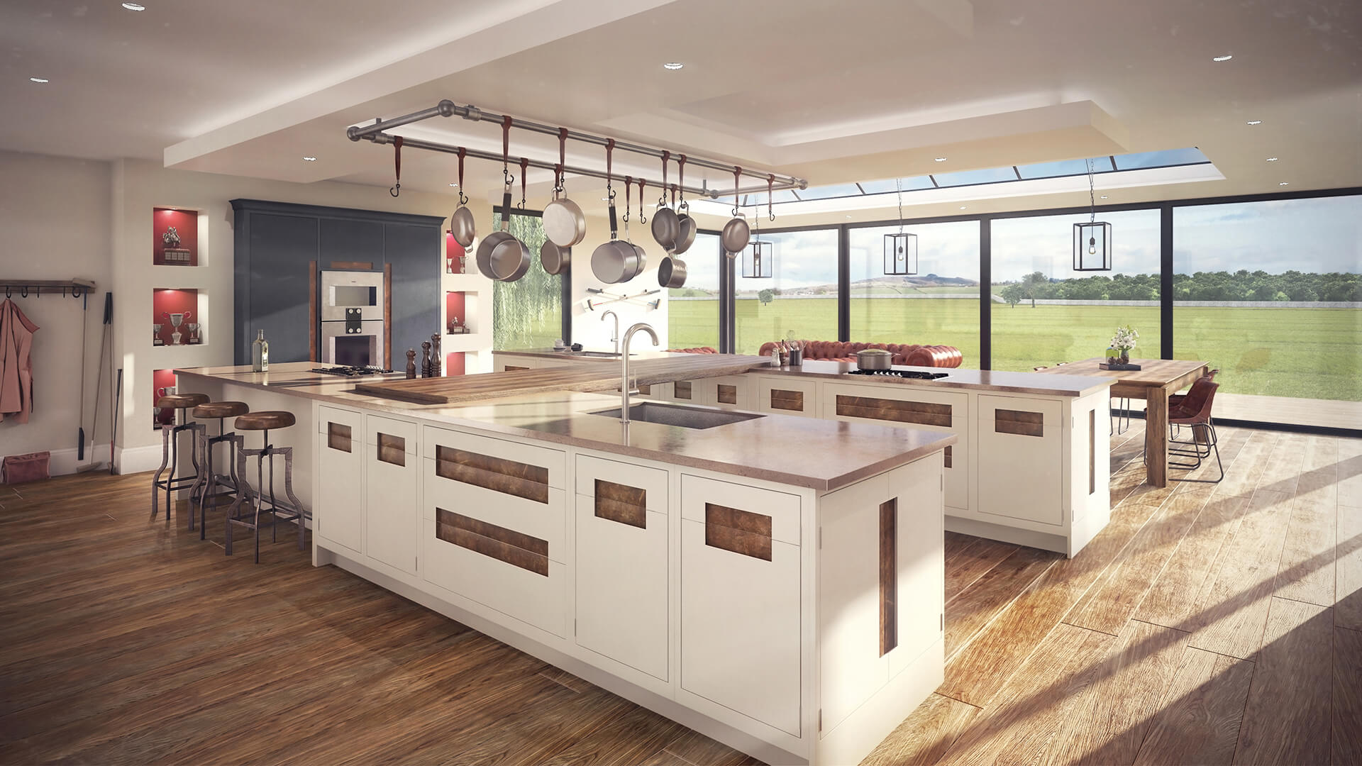 Classic kitchen design for a polo loving family for Extreme kitchen designs
