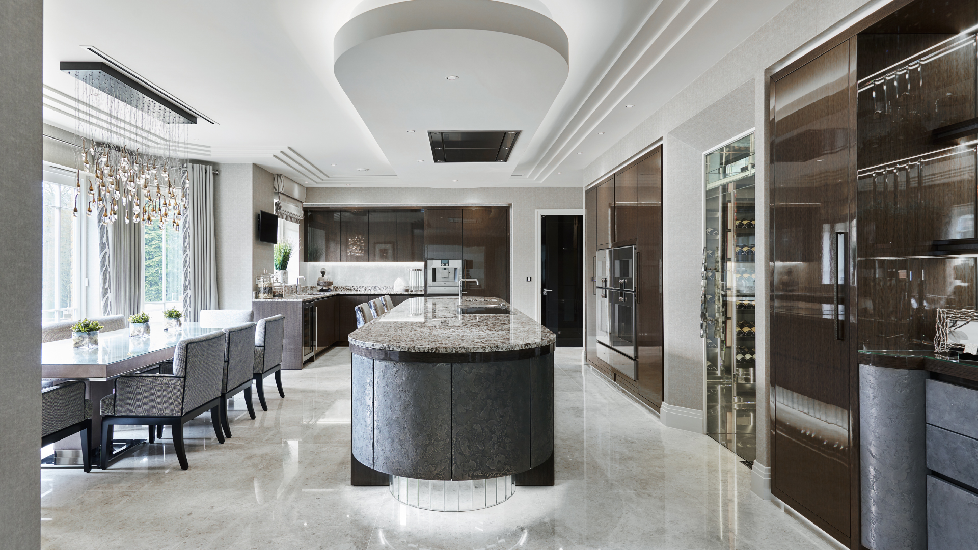 Luxury new kitchen st george 39 s hill surrey extreme design for Luxury kitchen design