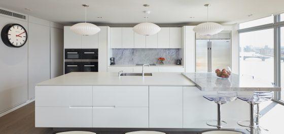 Monochrome kitchen interior