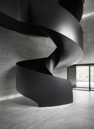Rolled Steel Contemporary Spiral Staircase