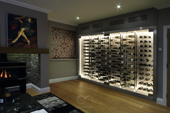 Contemporary wine wall