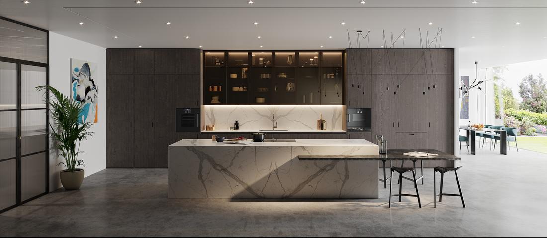 Concrete kitchen flooring