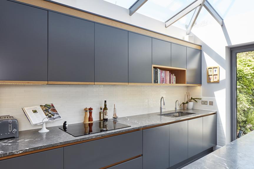 Luxury kitchen worktops in grey
