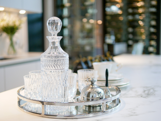 Decanter on marble bar