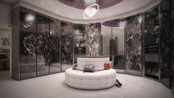 luxury dressing room