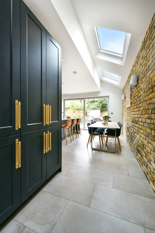 kitchen extension with skylights