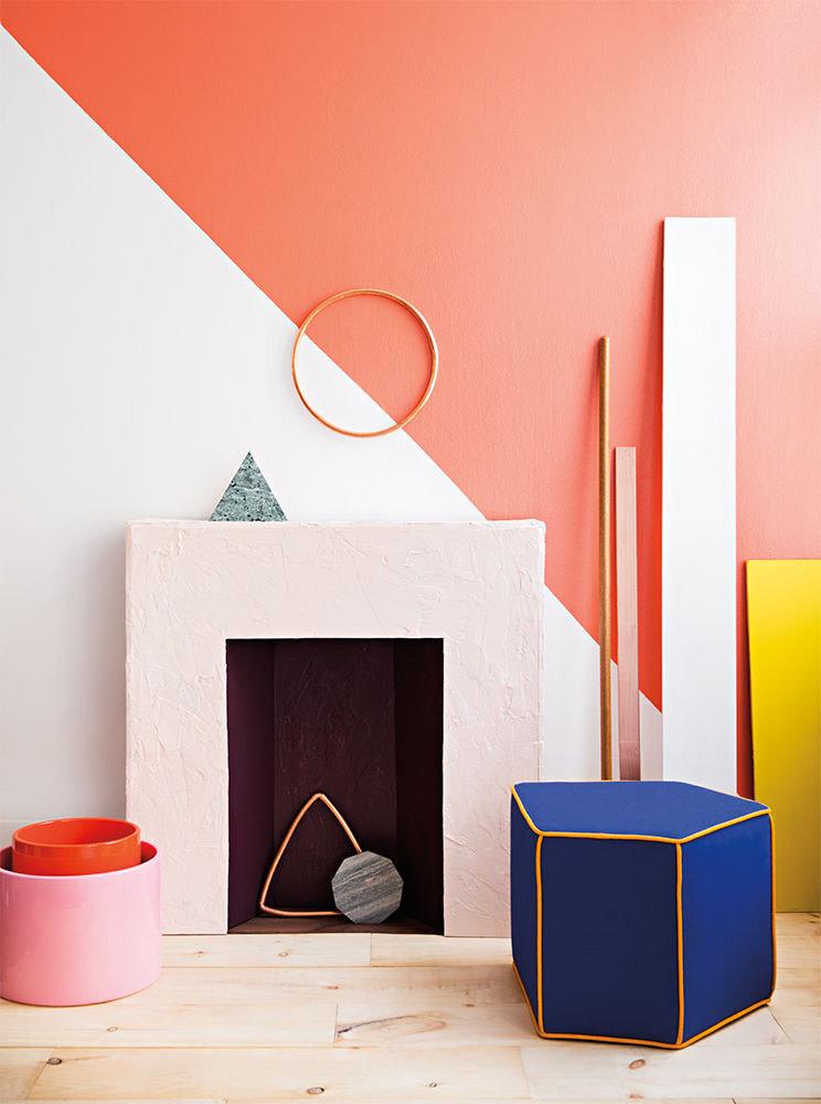 colour blocking interior geometric