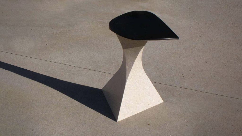 Audrey Black Stone Bar Stool By Mauro Dell'orco