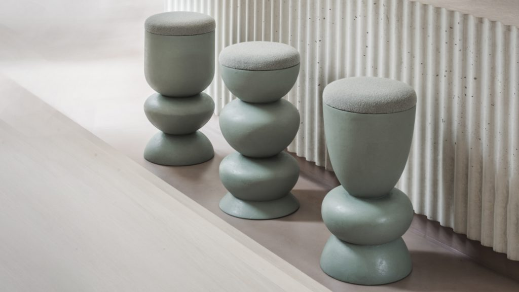 Contemporary Abstract Bar Stools by Sella Concept