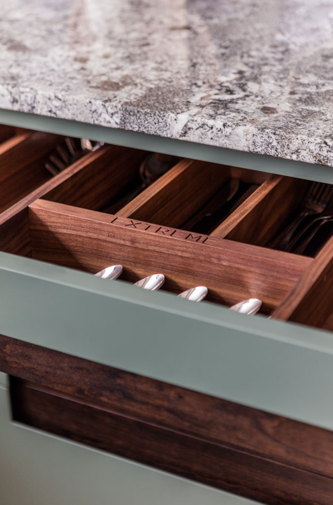 Handcrafted Walnut Cutlery Drawer