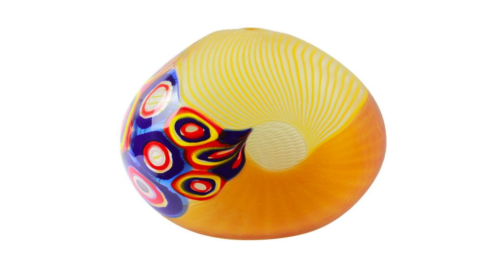 Murano Glass blown vase Icaro Original Murano Glass