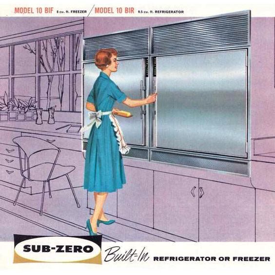 Sub-Zero Early Built In Refrigerator ad