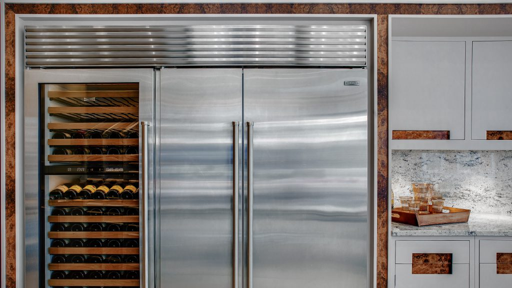 A Sub-Zero Refrigerator in an Extreme Design Kitchen