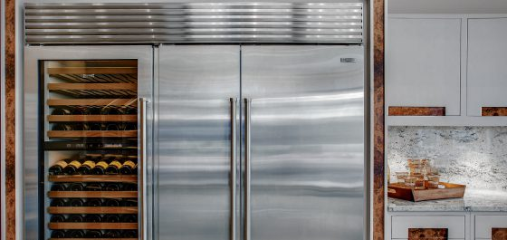 Sub-Zero Built-In Fridge Extreme Design Kitchen