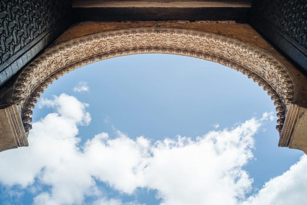 Moorish arch Morrocan architecture