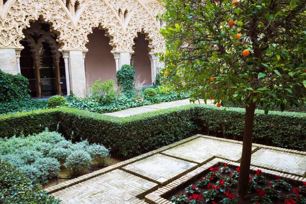 Morrocan riad garden