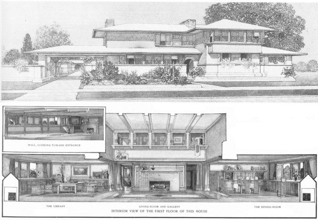 Frank Lloyd Wright Prairie House Plan
