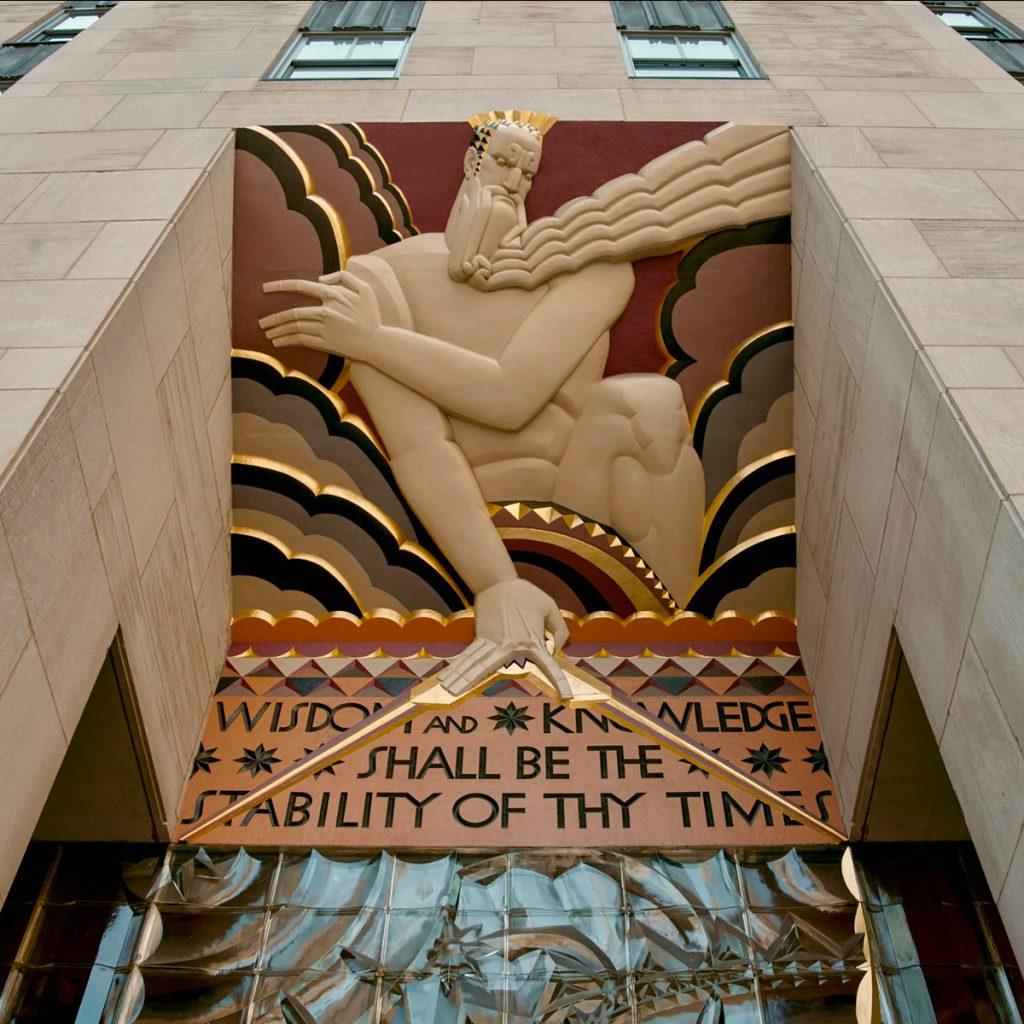 Art Deco Design Motifs Rockefeller Entrance Sculpture