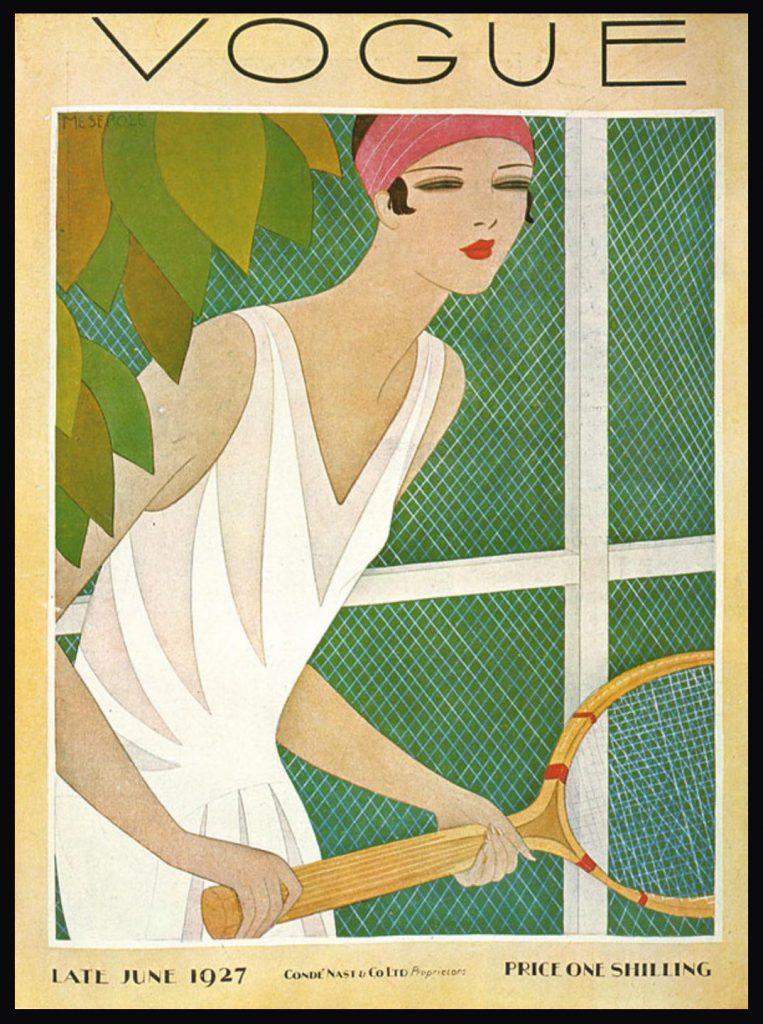 Art Deco Magazine Vogue Cover June 1927