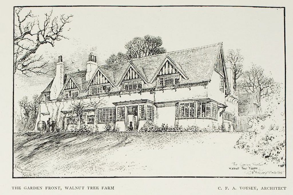 Arts and Crafts Architectural drawing. Voysey