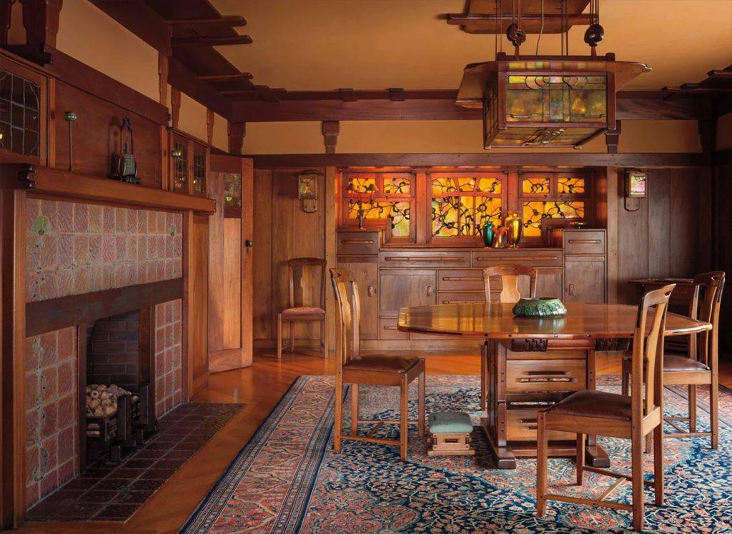 Arts and Crafts interior. Gamble House