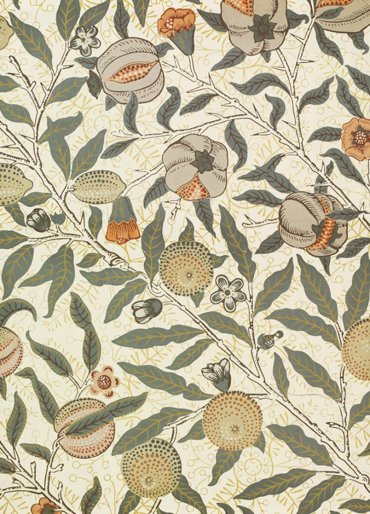 William Morris Arts and Crafts Fruit Wallpaper