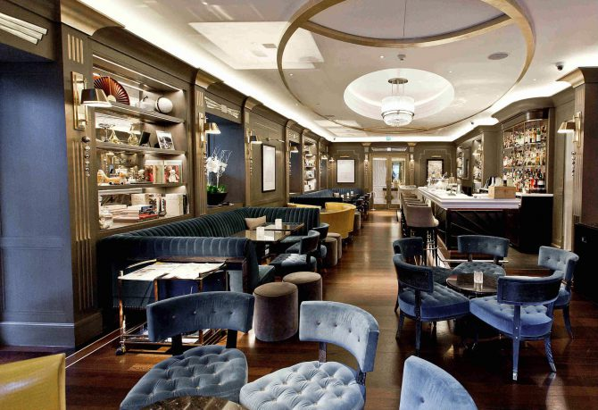 Art Deco Interior Churchill Bar Hyatt Regency London