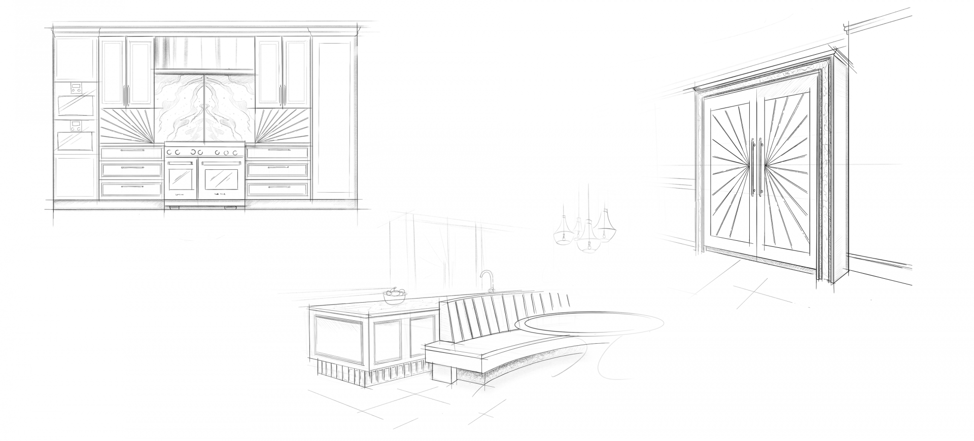 Kitchen Design Sketch by Extreme Design