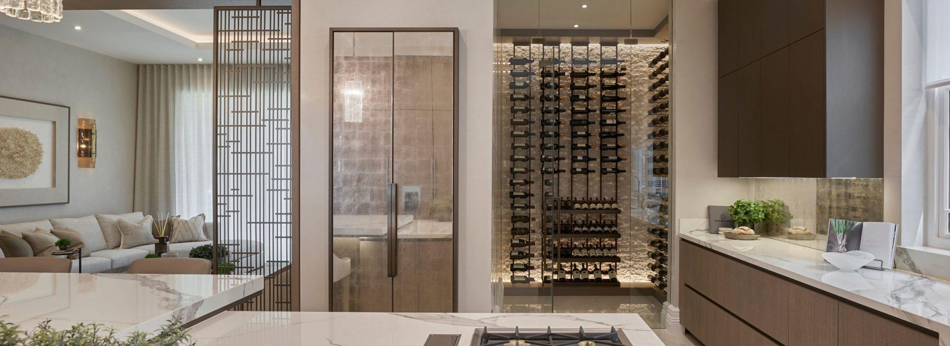 Luxury kitchen and wine room